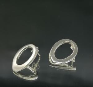 zilveren gegoten oorbellen