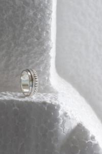 zilveren ring randje